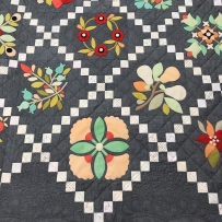 Fig Tree wool sampler quilt with custom qilting