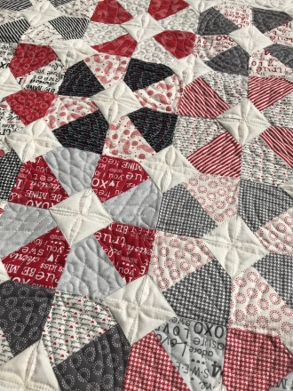 Valentine quilt Sweet Water fabric