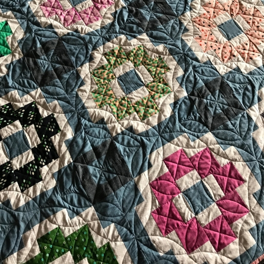 City Tiles Quilt with custom quilting
