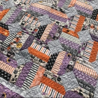 Halloween Version of Thimbleblossoms Jelly Bean Quilt