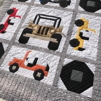 Jeep Quilt with custom quilting
