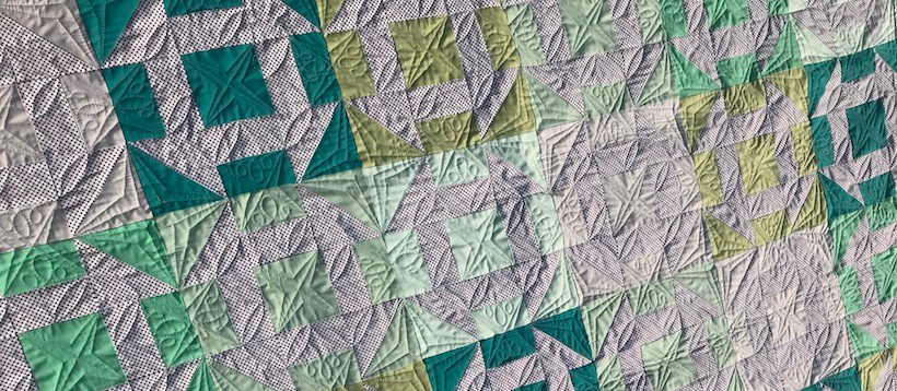 custom quilting churn dash quilt