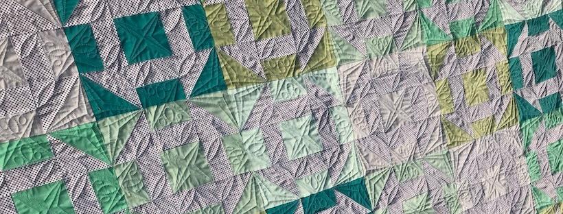 custom quilting churn dash quilt