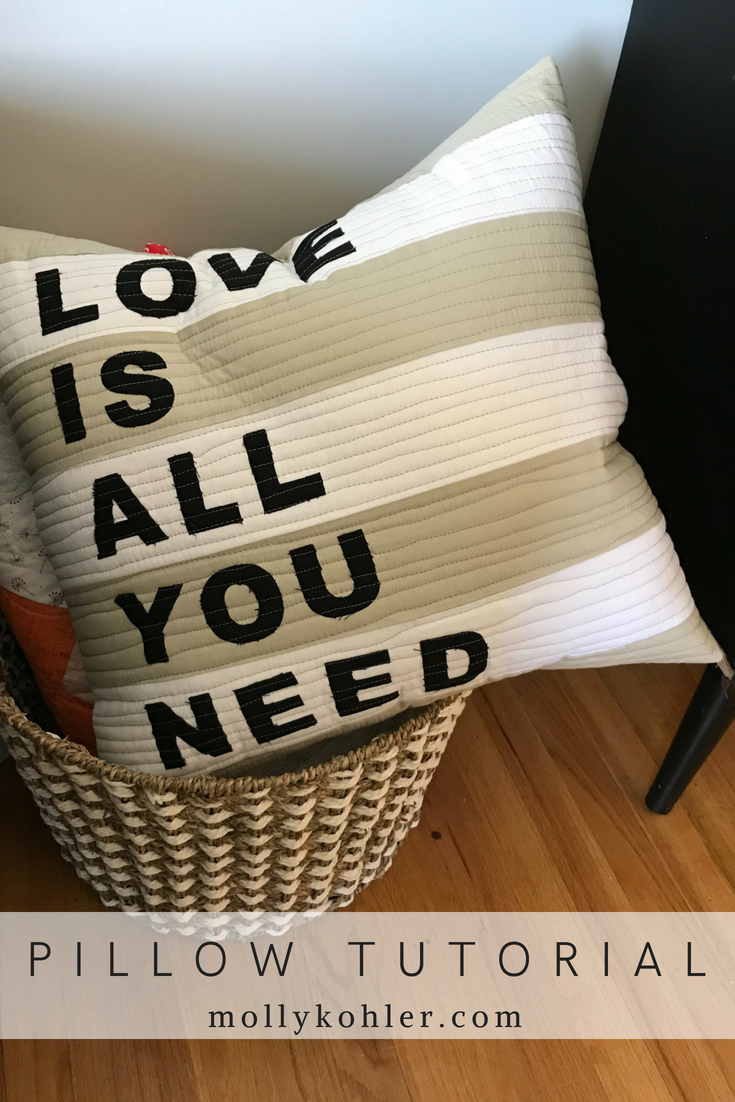 Love Is All You Need Pillow Tutorial