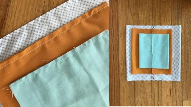 Easy Fabric Pumpkins seam photo