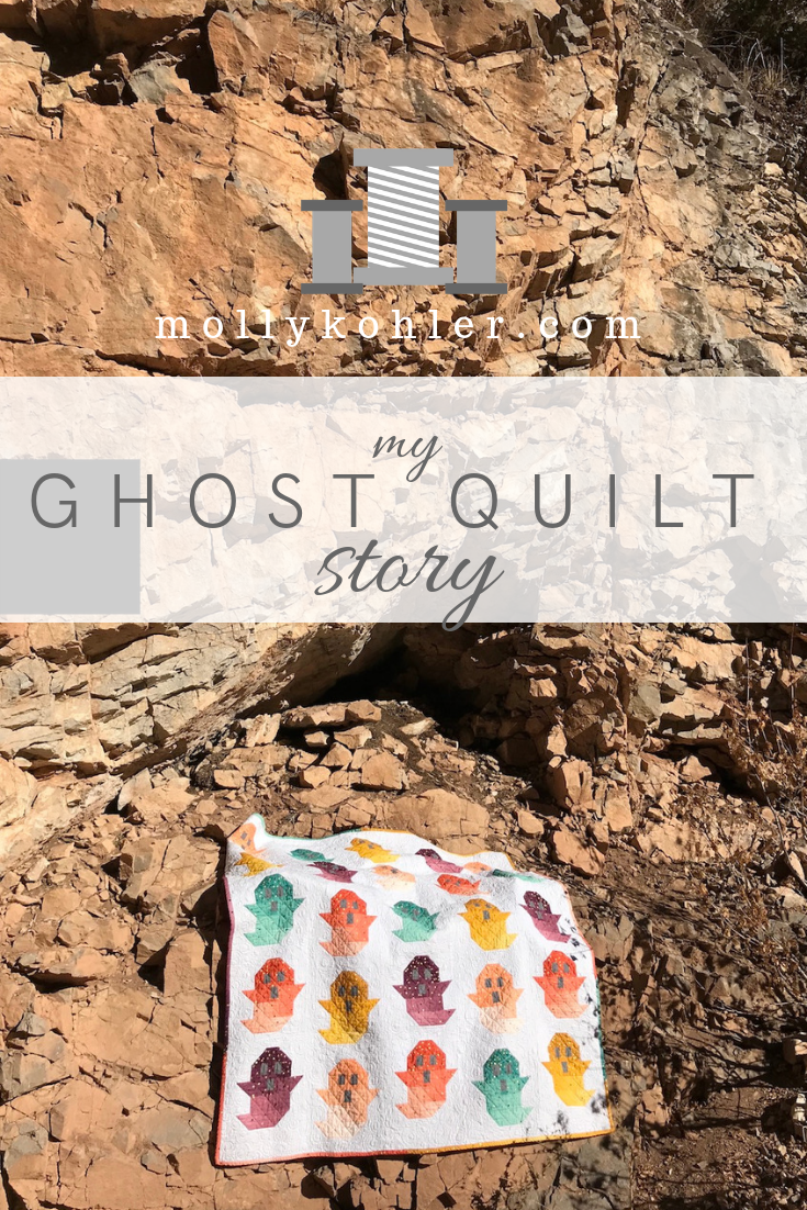 ghost quilt on rocks pinterest image