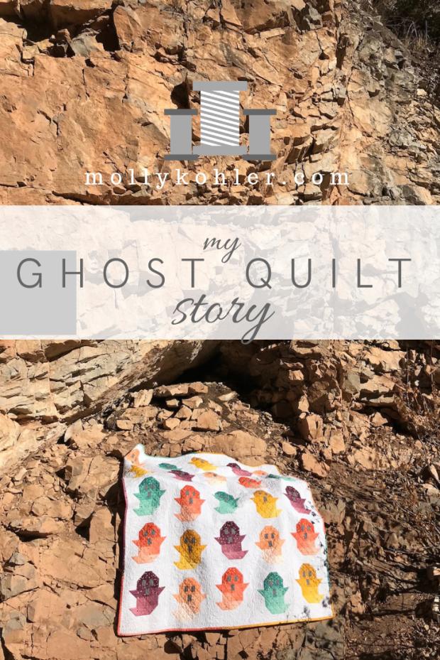 ghost quilt on rocks pinterest image