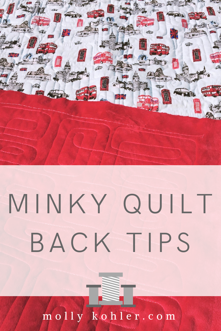 minky quilt back tips for longarm quilting