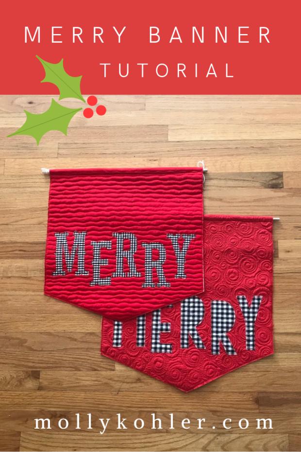 merry banner pinterest image