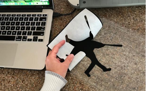 cut baseball player silhouette center field quilt tutorial