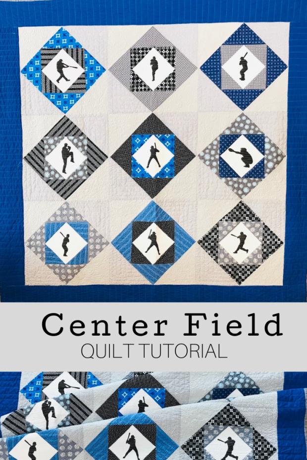 Center Field Quilt Tutorial; Baseball Quilt Tutorial