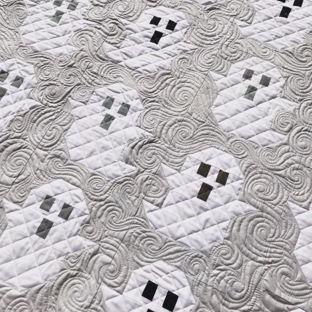 ghost quilt gray