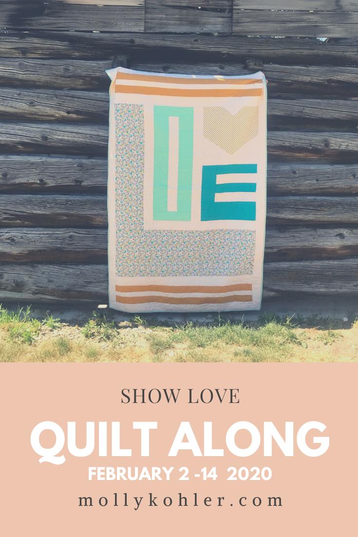 Show Love Quilt Along pink